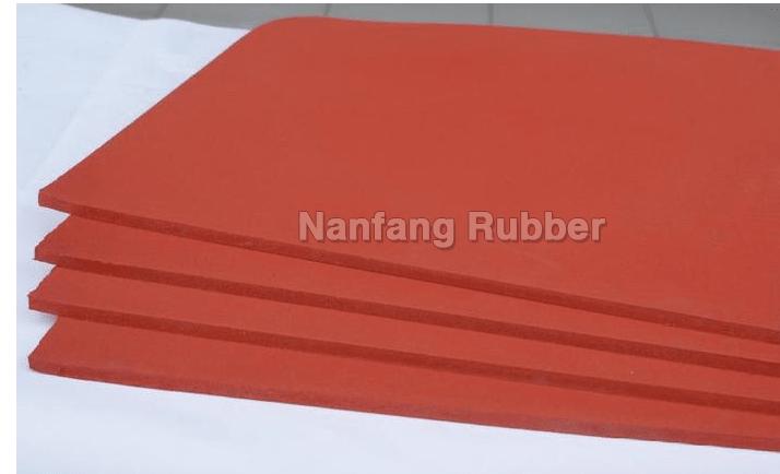 45shore C Silicone Sponge Foam Sheets Foshan Nanfang